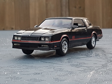 86 Chevrolet Monte Carlo SS Aerocoupe Specifications Kit 85 2576 Skill Level 2 Parts 92 Molded In White