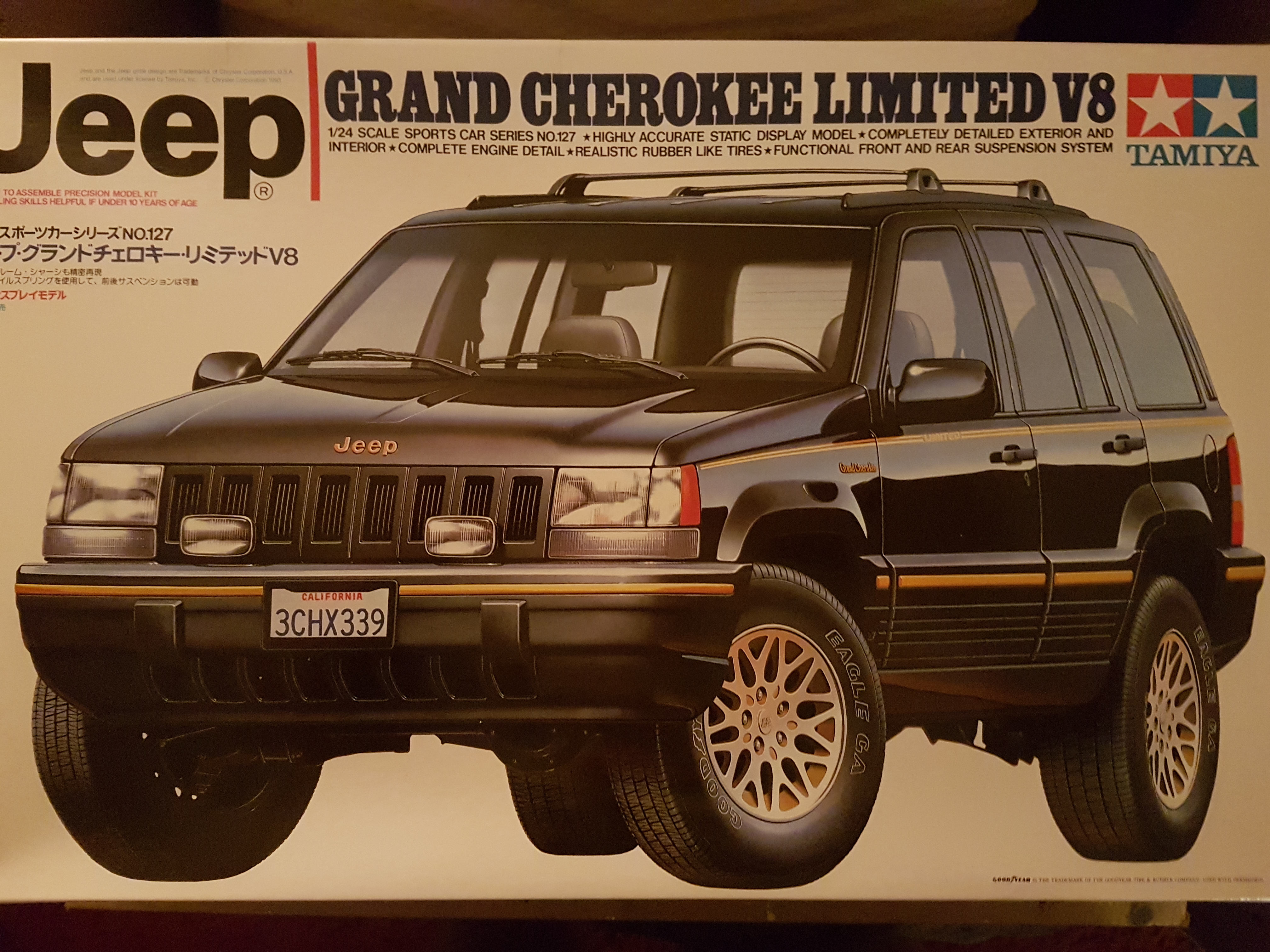 1993 jeep grand cherokee limited v8 tamiya rays kits. Black Bedroom Furniture Sets. Home Design Ideas