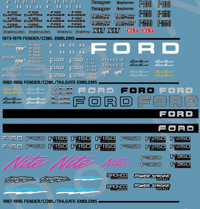 73_96FordFseriesEmblems