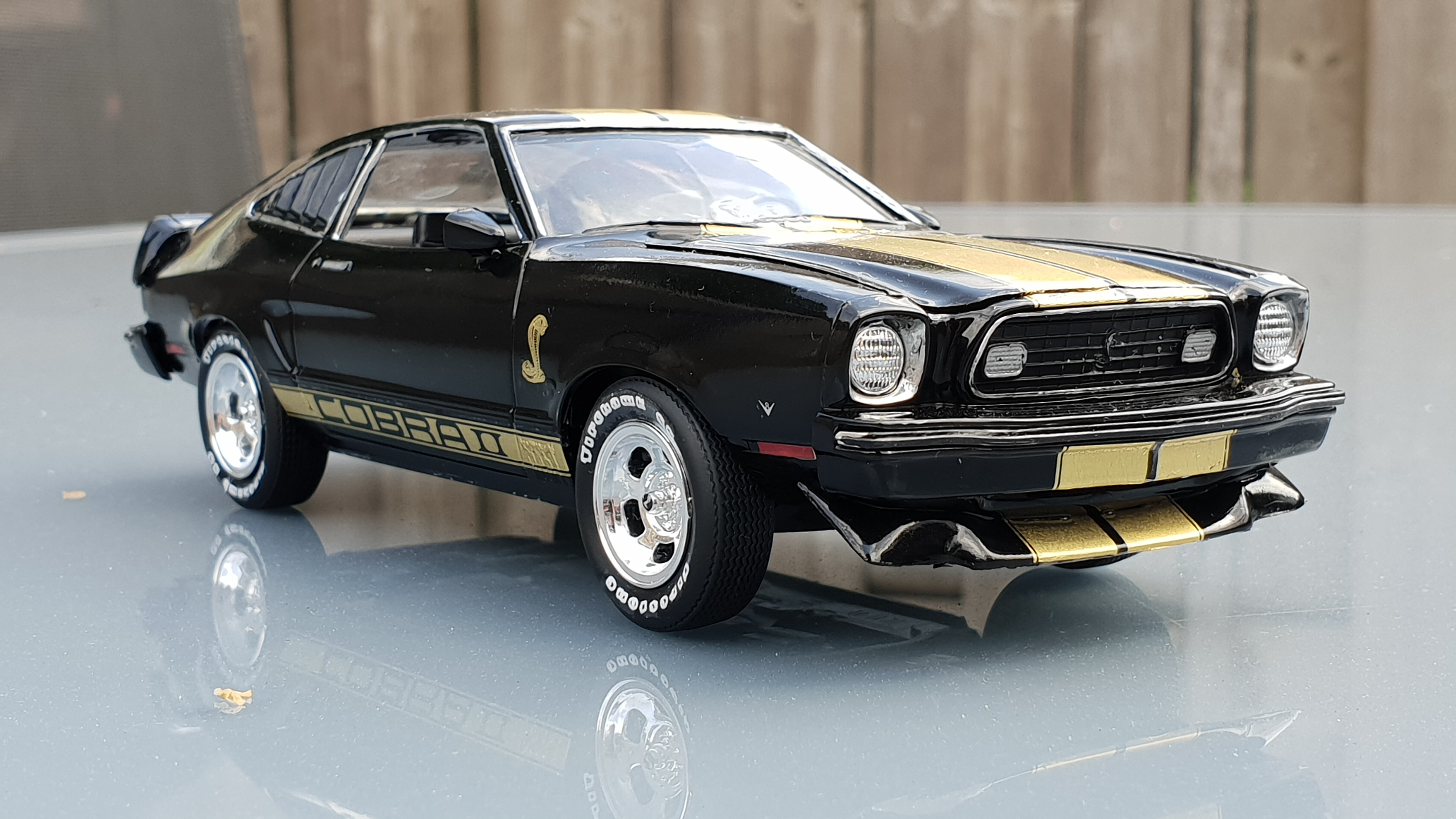 1976 ford mustang ii cobra ii mpc rays kits 1976 Mustang Cobra then around the same time i was designing the series of mustang ii decals among which the cobra ii so i had one printed in nice metallic gold as in my