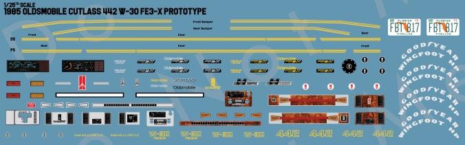 85Cutlass442FE3X_W30_Prototype